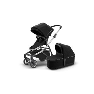 Thule Sleek Stroller + Bassinet Midnight Black 11000007AU