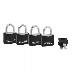 Master Lock 30mm Covered Solid Aluminium Widebody, 4 pack - 131QAU