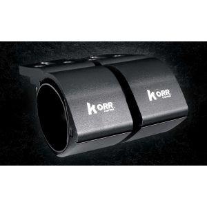 KORR 76-81MM BULL BAR CLAMPS - BLACK KBBCR81B