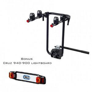 Cruz Bike Carrier For Towbar Mounting Frame 2 Bikes With Lightboard Bundle 940-518 - 940-900