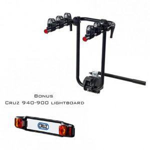 Cruz Bike Carrier For Towbar Mounting Frame 3 Bikes With Lightboard Bundle 940-520 - 940-900