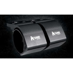 KORR 76-81MM BULL BAR CLAMPS - BLACK KBBCR81B