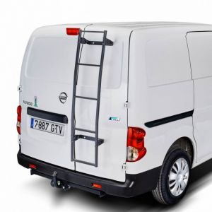 CRUZ Fixed Ladder for VW Transporter T6 L2H1 (T-Profile) with Factory Mounting Point, LWB Low Roof 2015 to 2015