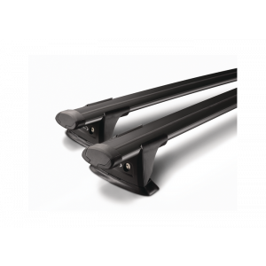 Whispbar Through Bar Black Roof Rack set S18WB