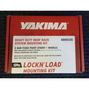 Yakima Lockn load Fitting Kit for 2 Bar FP Toyota LC100 8000326