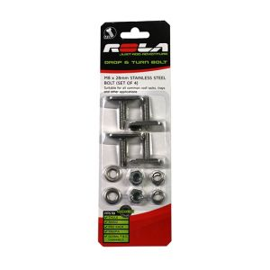 ROLA M8X28 DROP AND TURN CHANNEL BOLT SET RWSLA28