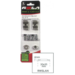 ROLA M8 DROP AND TURN CHANNEL NUT SET RWSLAN