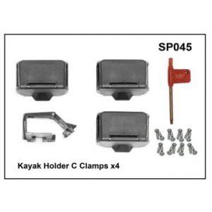 Whispbar Kayak Holder C Clamps x 4 YSP045