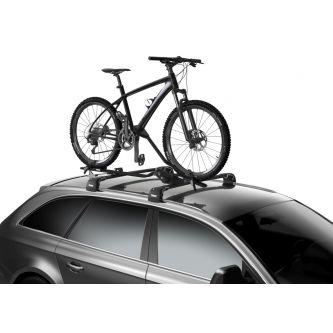 thule proride black bike carrier frame mounted roof racks galore roof mounted bike carrier