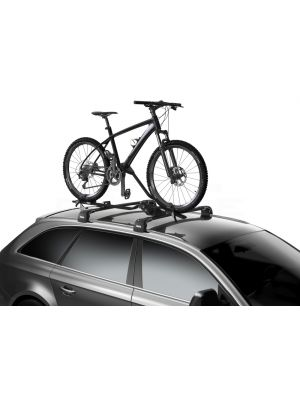 thule proride black bike carrier frame mounted roof racks galore roof mounted bike carrier
